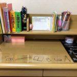 【コンパクト学習机の使用レビュー】本棚を別で買うことにしました