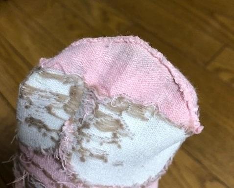感覚過敏の娘が履けない靴下の裏側